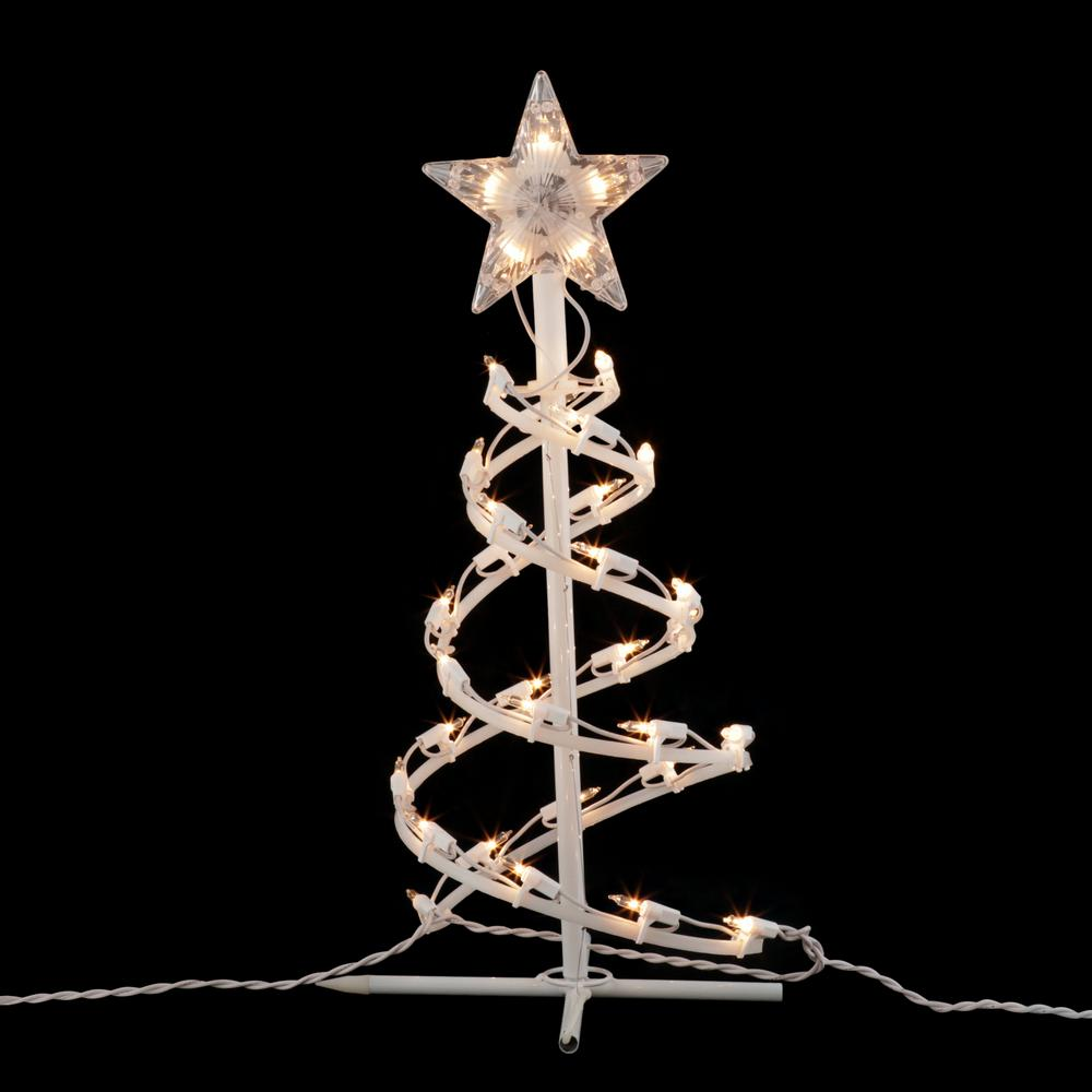 "Home Accents Holiday 18"" Clear Spiral Christmas Tree ..."