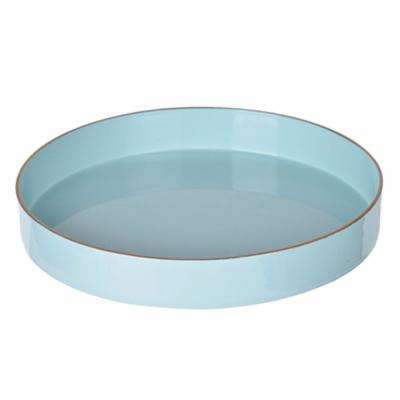 Blue Beautiful Round Tray
