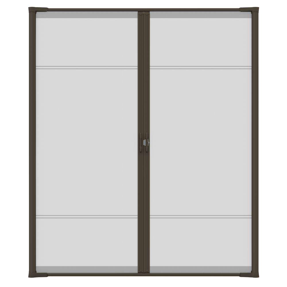 72 In X 78 In Brisa Brown Short Height Double Door Kit Retractable Screen Door 77020461 The Home Depot