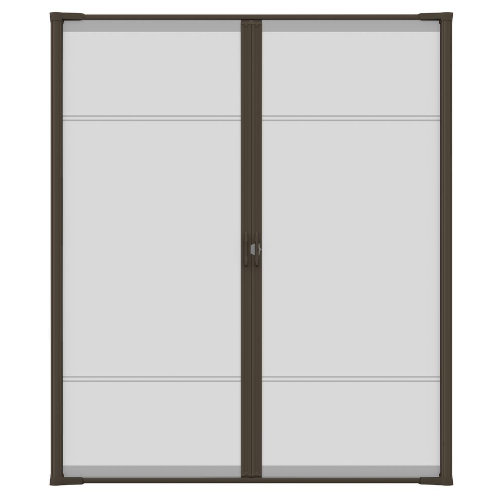 72 in. x 81 in. Brisa Brown Standard Double Retractable Screen Door Kit