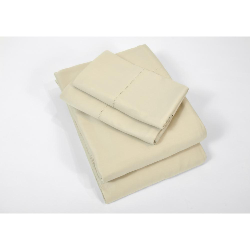 100% Rayon from Bamboo Hemp Queen Sheet Set