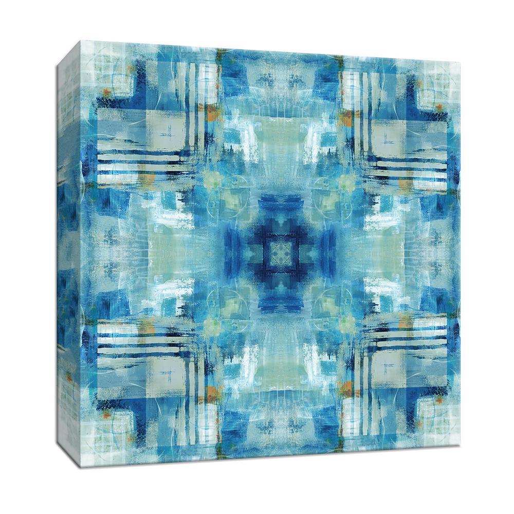 15 in. x 15 in. ''Kaleidoscope Blue Tie Dye'' By PTM Images Canvas Wall Art