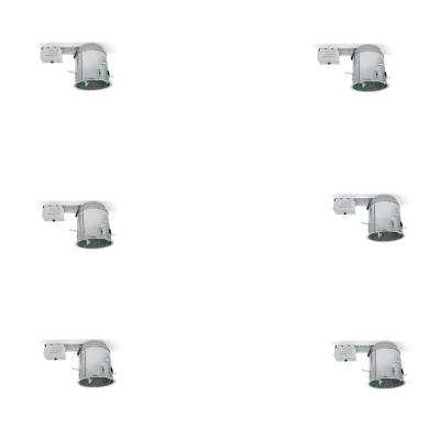 6 in. Remodel and IC Rated Brushed Aluminum Recessed Housing (6-Pack)