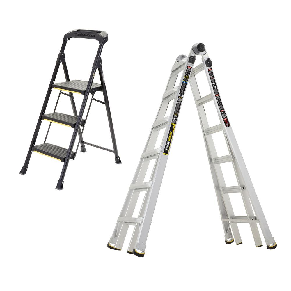 Gorilla Ladders 26 Ft Multi Position And 3 Step Pro Steel