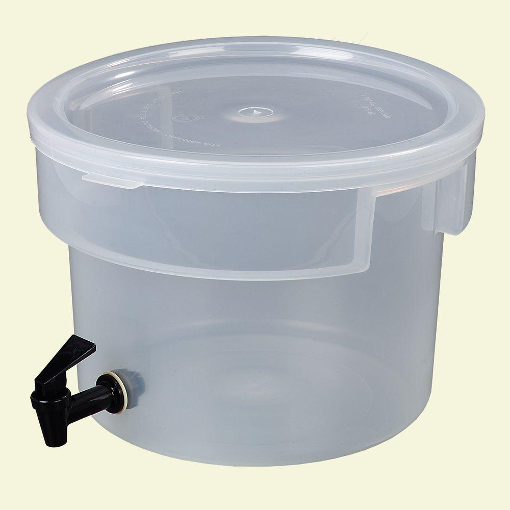 3 gal. Polypropylene Beverage Dispenser in Translucent (See-Thru)