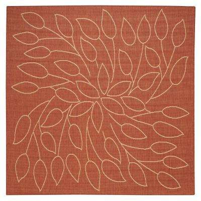 Orange - Square - Flat Woven - Outdoor Rugs - Rugs - The Home Depot
