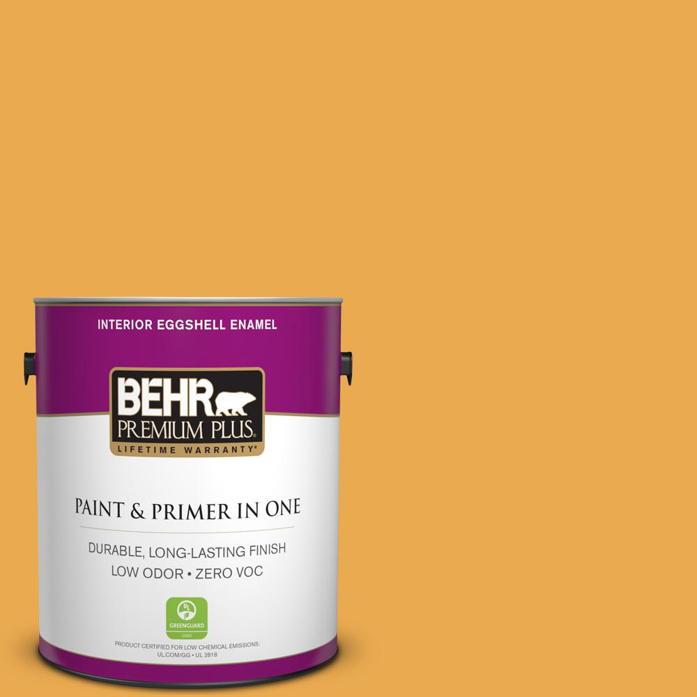 1-gal. #BIC-43 Optimist Gold Eggshell Enamel Interior Paint