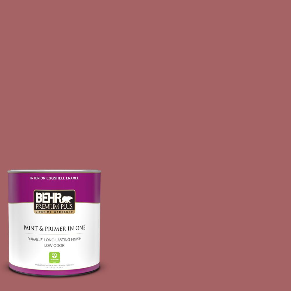 Behr Premium Plus 1 Qt Ppu1 06 Rose Marquee Eggshell Enamel Low Odor Interior Paint And Primer In One 230004 The Home Depot