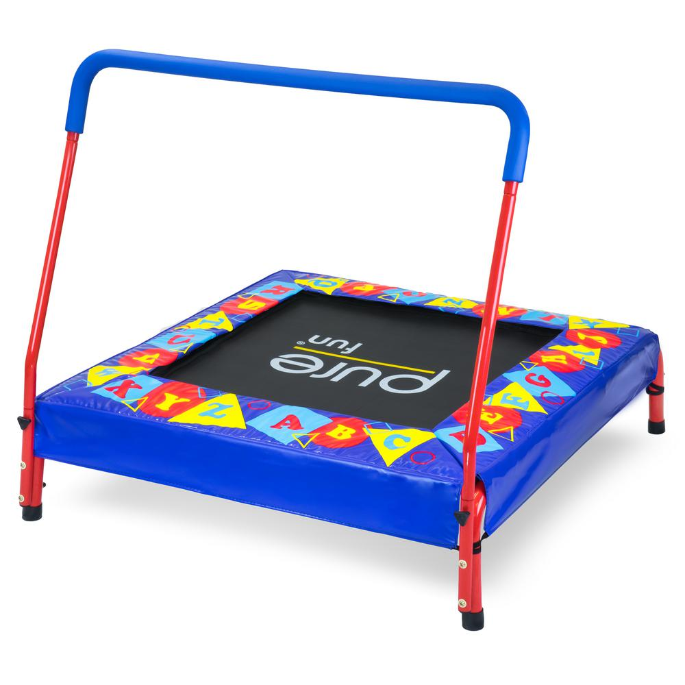 Pure Fun Preschool Jumper Kids Trampoline with Handrail