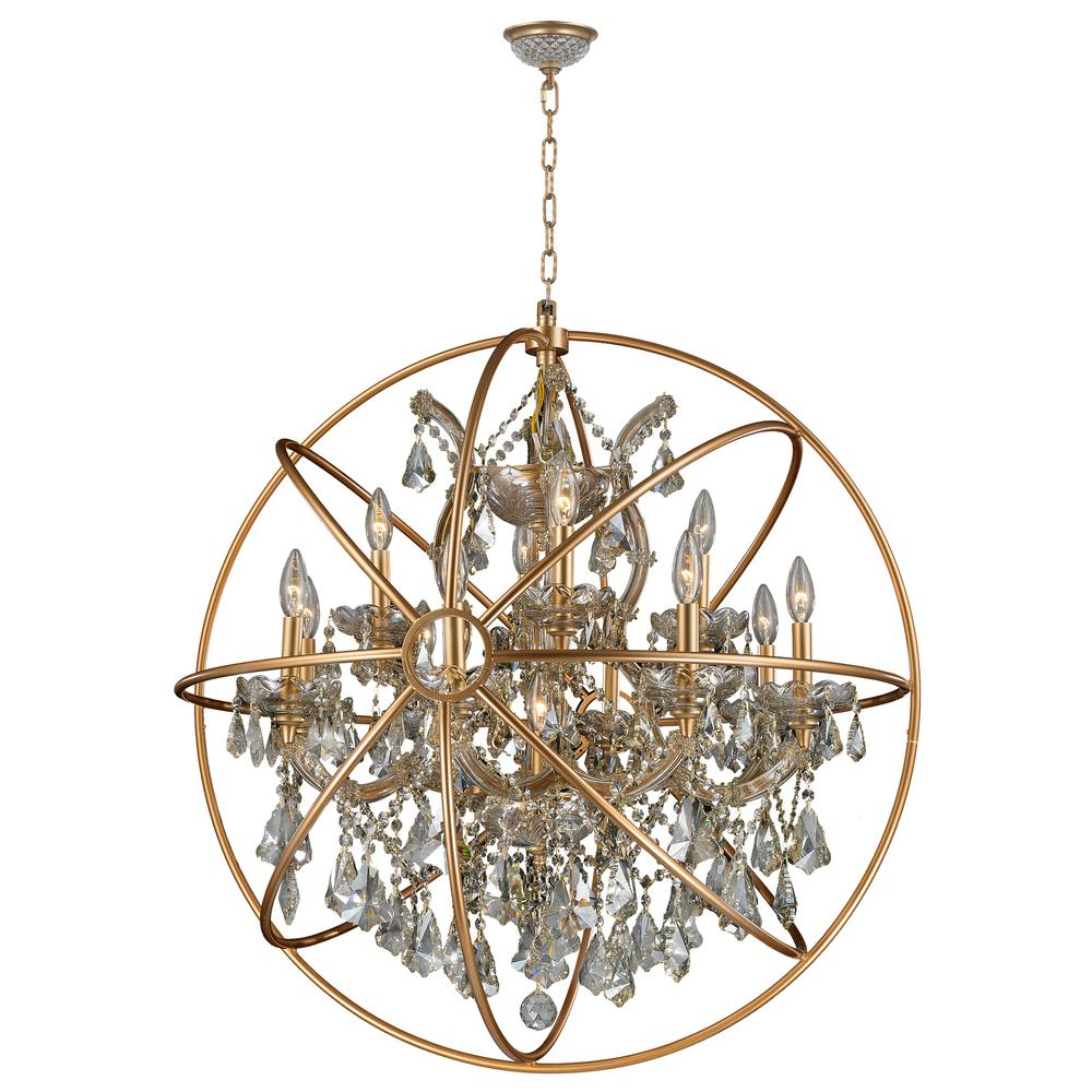 Worldwide lighting armillary 13 light gold crystal chandelier worldwide lighting armillary 13 light gold crystal chandelier aloadofball Image collections