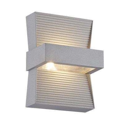 Mill Collection 1-Light Marine Grey Outdoor LED Wall Mount
