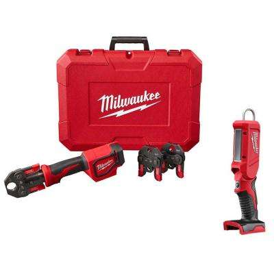 M18 18-Volt Lithium-Ion Cordless Short Throw PEX Press Tool with LED Stick Light