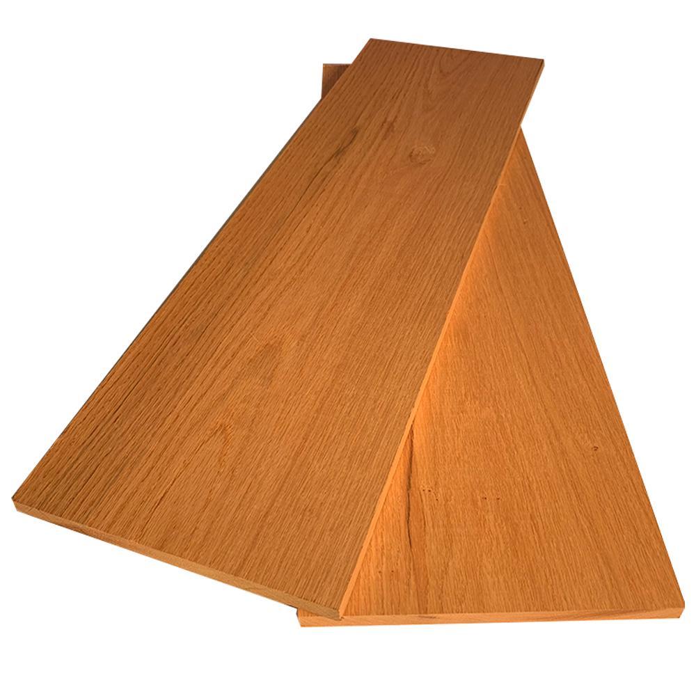 1 in. x 8 in. x 8 ft. Red Oak S4S Board (2-Pack)