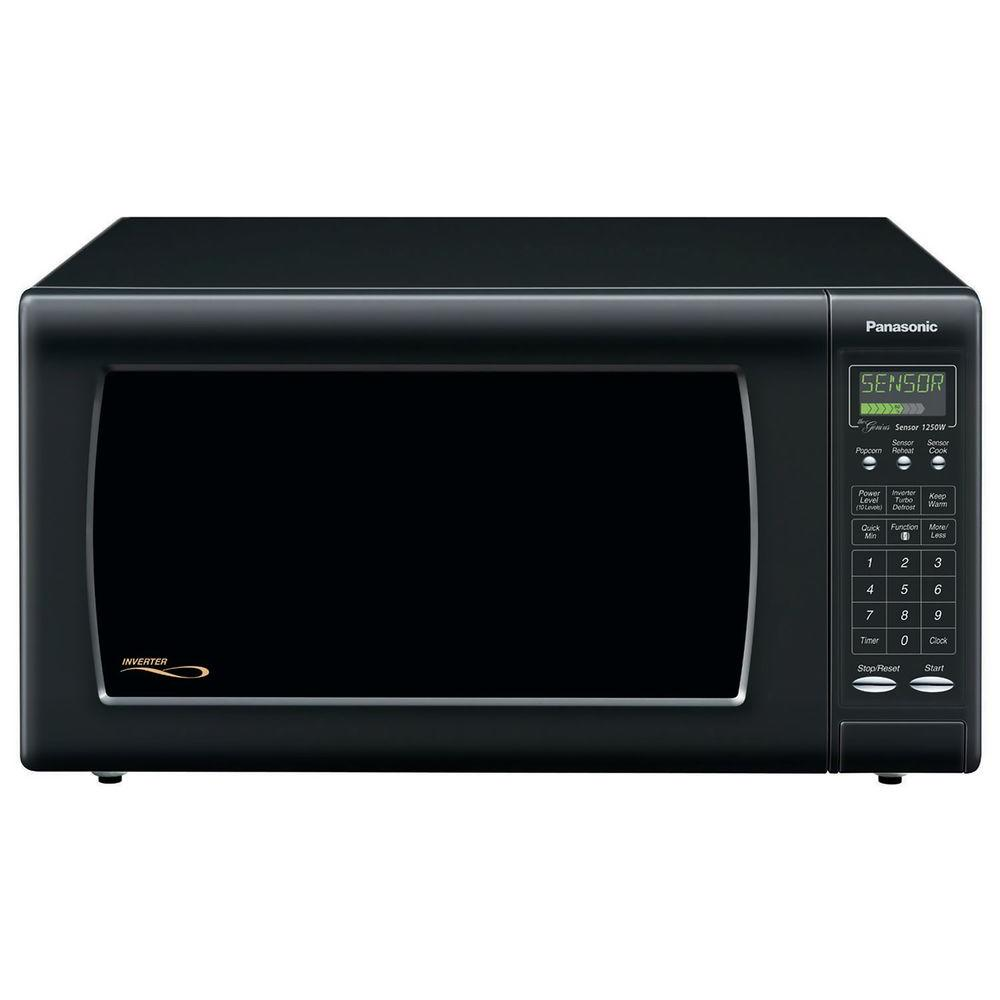 Panasonic Full-Size 1.6 cu. ft. 1250 Watt Microwave Oven in Black
