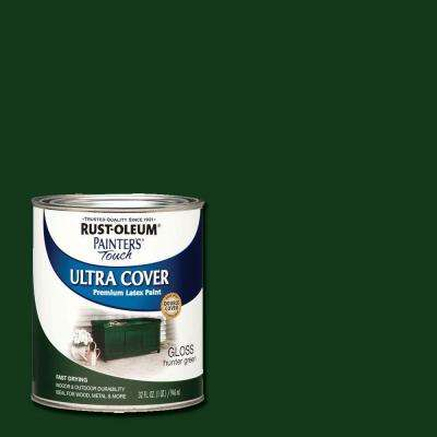 32 oz. Ultra Cover Gloss Hunter Green General Purpose Paint