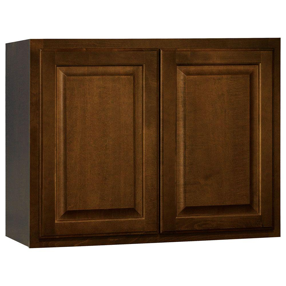 Hampton Bay Kitchen Cabinets Cognac: Hampton Bay Hampton Assembled 30x23.5x15 In. Wall Bridge