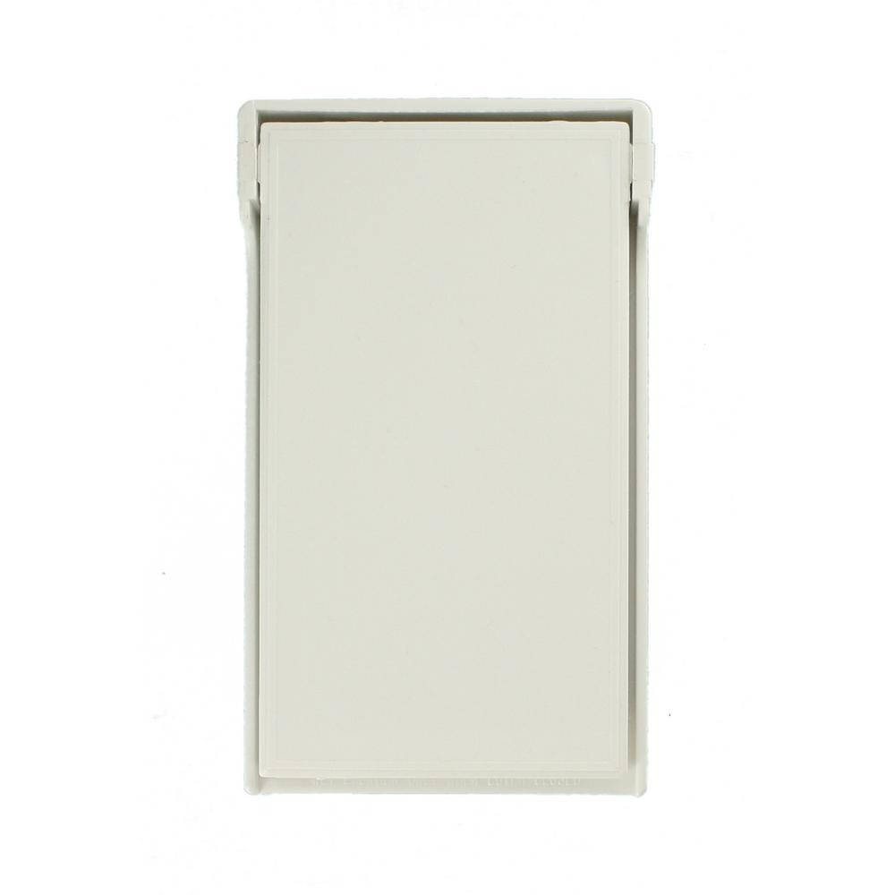 1-Gang Raintight, Weather Resistant, Duplex Receptacle, Vertical Mount Wall