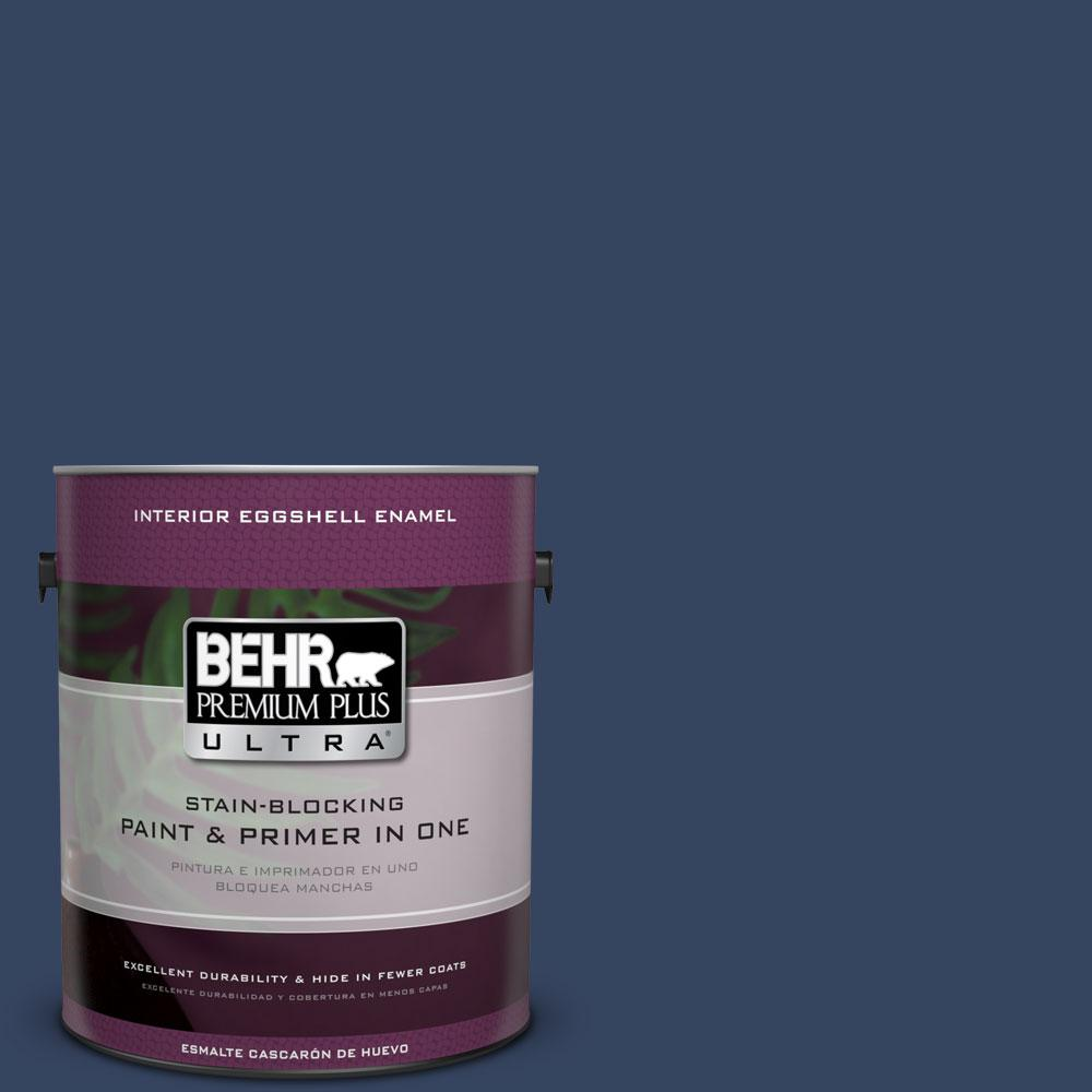 BEHR Premium Plus Ultra 1-gal. #610D-7 Night Watch Eggshell Enamel Interior Paint