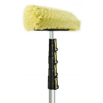 7 ft. to 30 ft. Soft Bristle Car Wash Brush and Extension Pole with 11 in. Automotive Care Brush with 30 ft. Handle