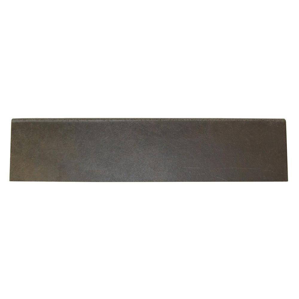 Daltile Concrete Connection City Elm 3 in. x 13 in. Porcelain Bullnose Floor and Wall Tile