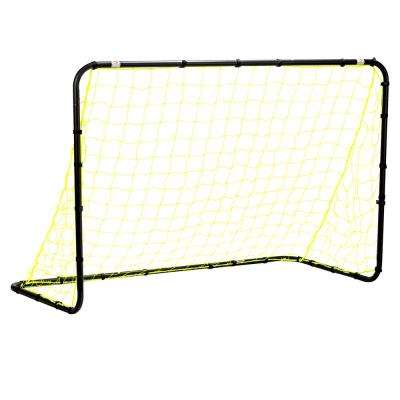 4 ft. x 6 ft. Black Powder Coated Steel Non-Folding Goal