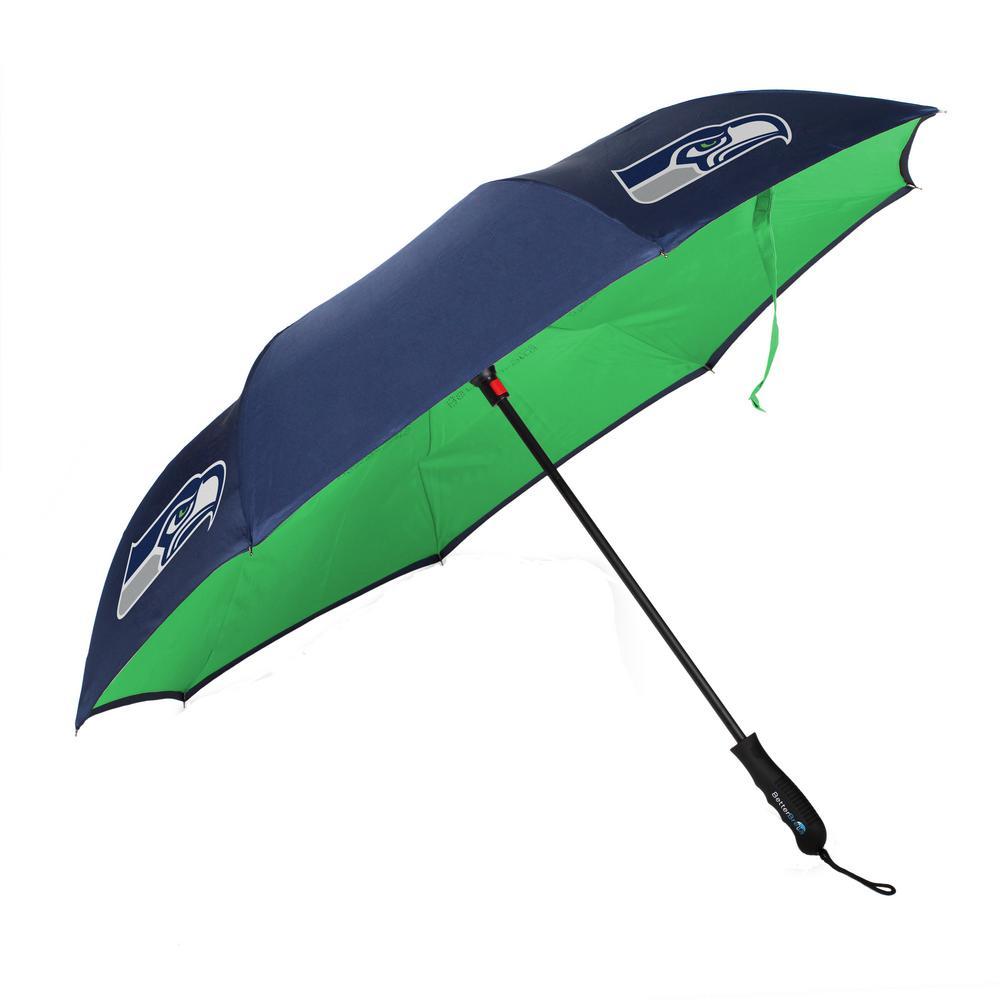 Better Brella 34 in. Dia NFL Seattle Seahawks Better Brella Wind-Proof Umbrella