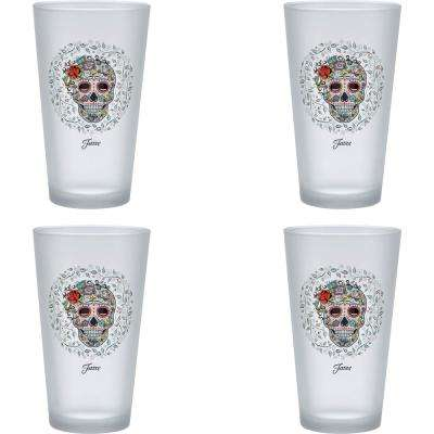 16 oz. Skull and Vine Sugar Frosted Cooler (Set of 4)