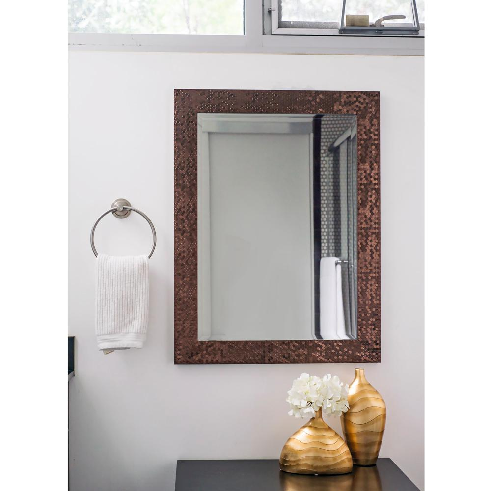 33.25 in. x 25.25 in. Bronze Mosaic Beveled Pattern Wall ...