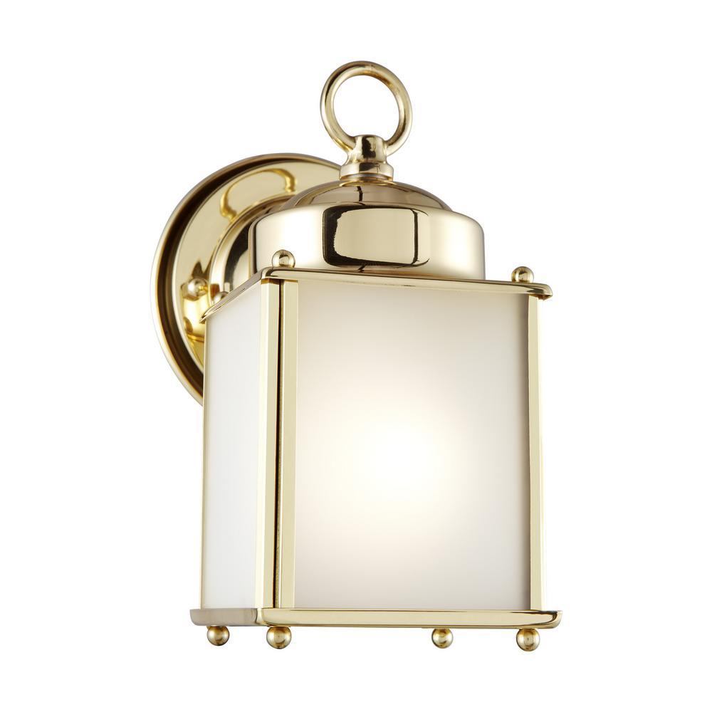 Sea Gull Lighting New Castle Small 1 Light Polished Brass