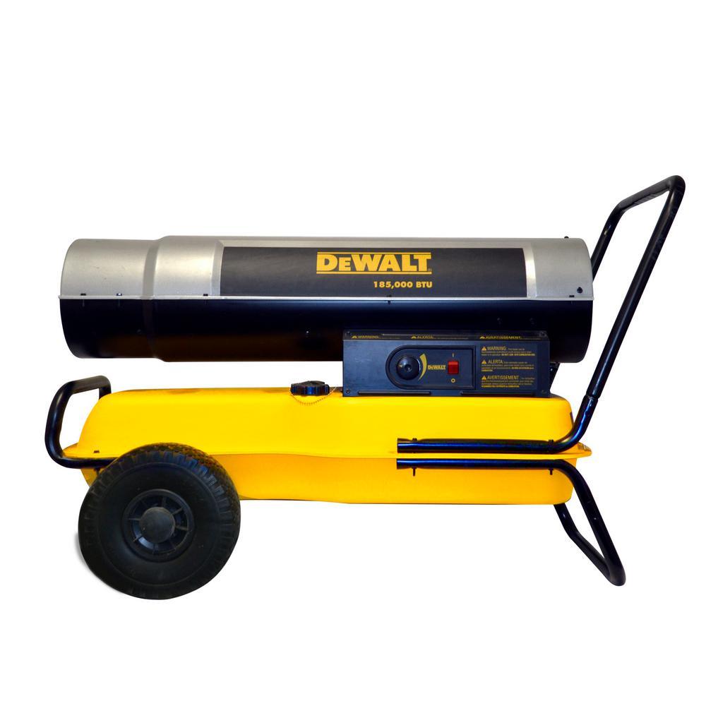 Dewalt 185 000 Btu Forced Air Kerosene Heater Dxh185kt