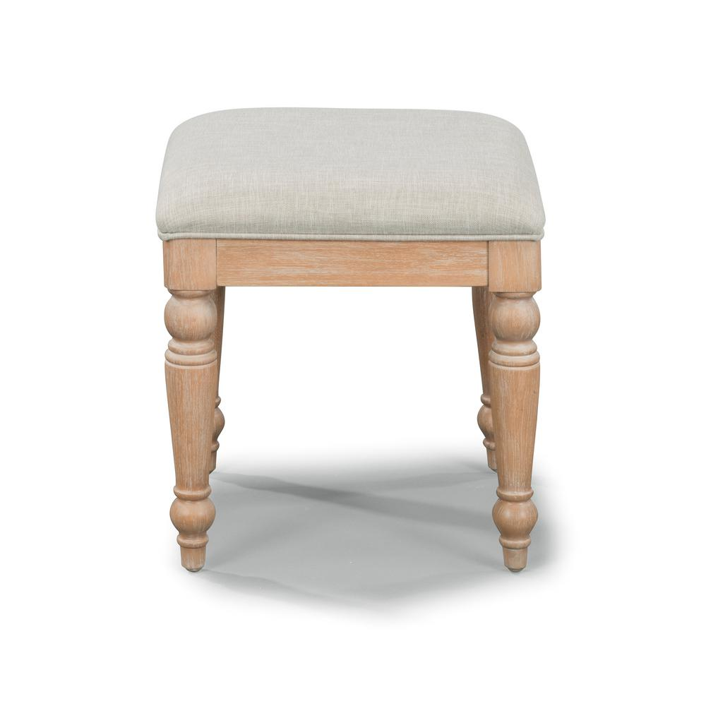Cambridge White Washed Maple Vanity Bench