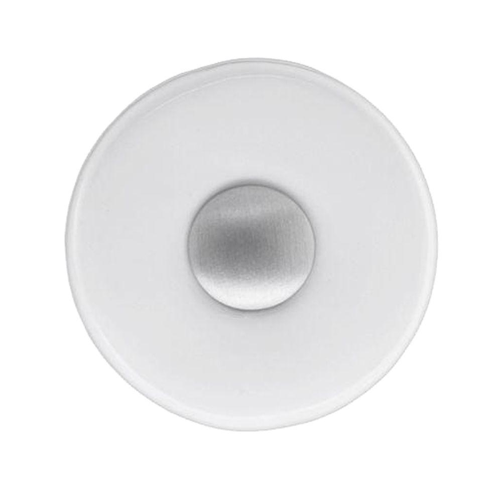 1 in. Satin Nickel Round Cabinet Knob