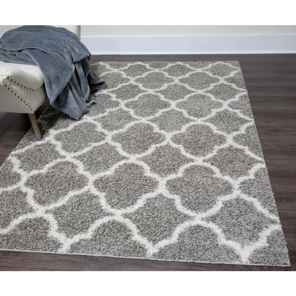 Gentil Home Dynamix Synergy Gray/White 2 Ft. X 3 Ft. Indoor Area Rug