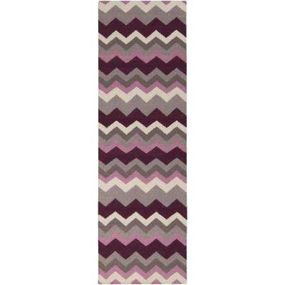 Joaquin Prune Purple 3 ft. x 8 ft. Flatweave Runner Rug
