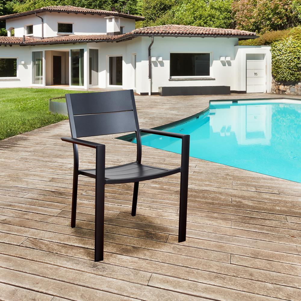 Atlantic Bryant Armchair Aluminum Outdoor Dining Chair (4 Pack)
