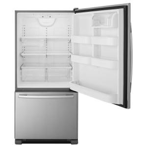 Amana 22 Cu Ft Bottom Freezer Refrigerator In Stainless Steel