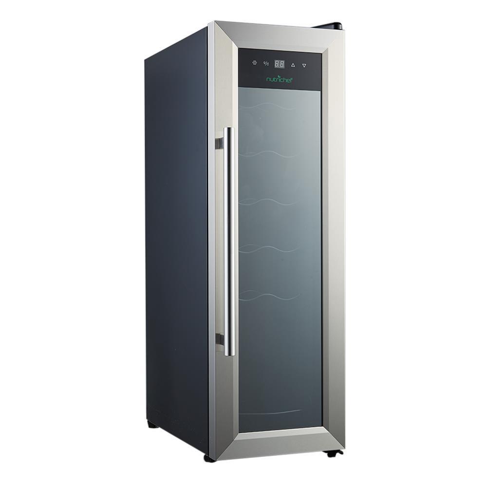 12-Bottle Home Wine Cooler Fridge Smart Wine Cooler Chilling Refrigerator with Digital Touchscreen Control