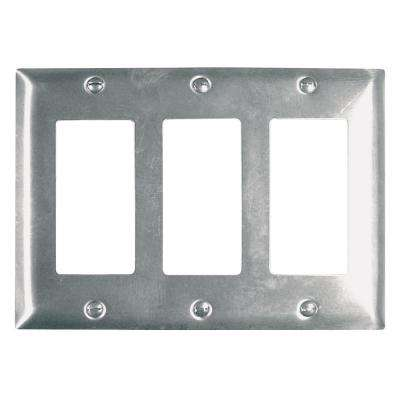 302 Series 3-Gang Decorator Wall Plate in Stainless Steel