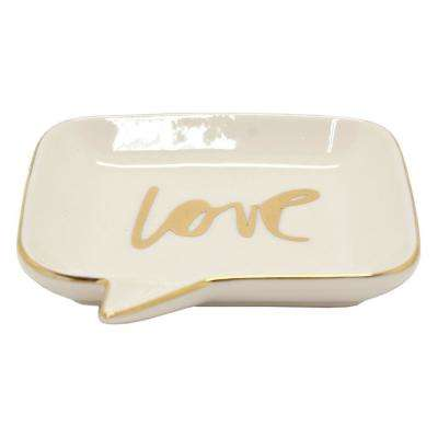 0.75 in. Ceramic Jewelry Dish