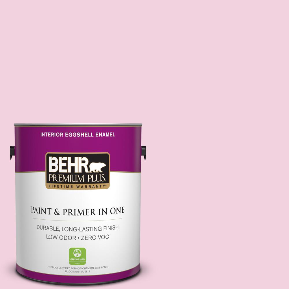 BEHR Premium Plus 1-gal. #100A-3 Scented Valentine Zero VOC Eggshell Enamel Interior Paint