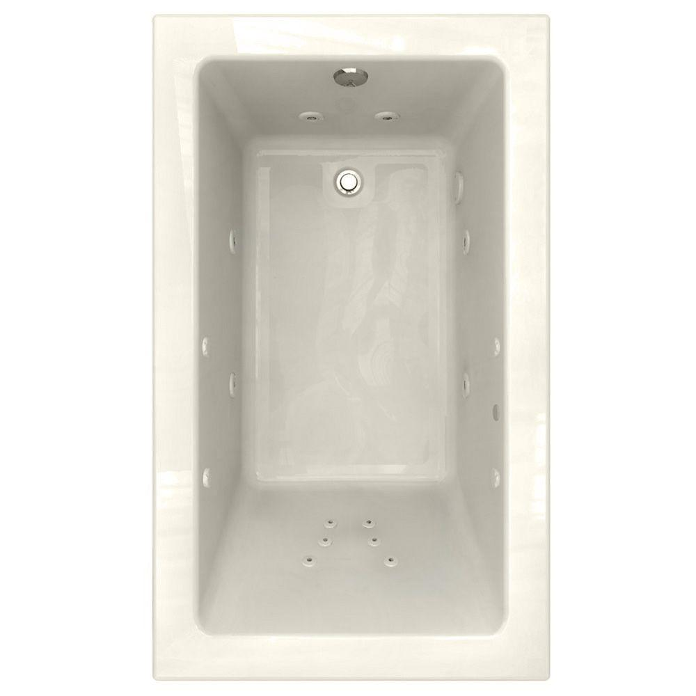 American Standard Studio EcoSilent Integral Tile Flange 5 ft. x 36 in. Whirlpool Tub with Left Drain in Linen