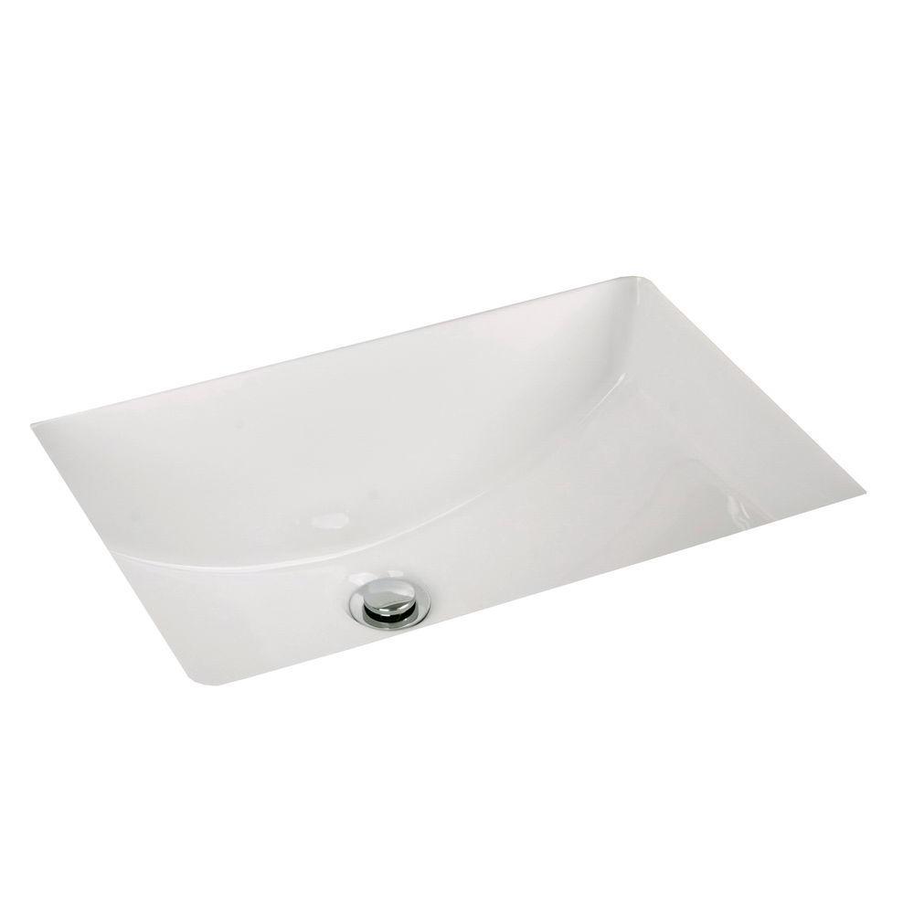 Filament Design Cantrio Undermount Bathroom Sink in White
