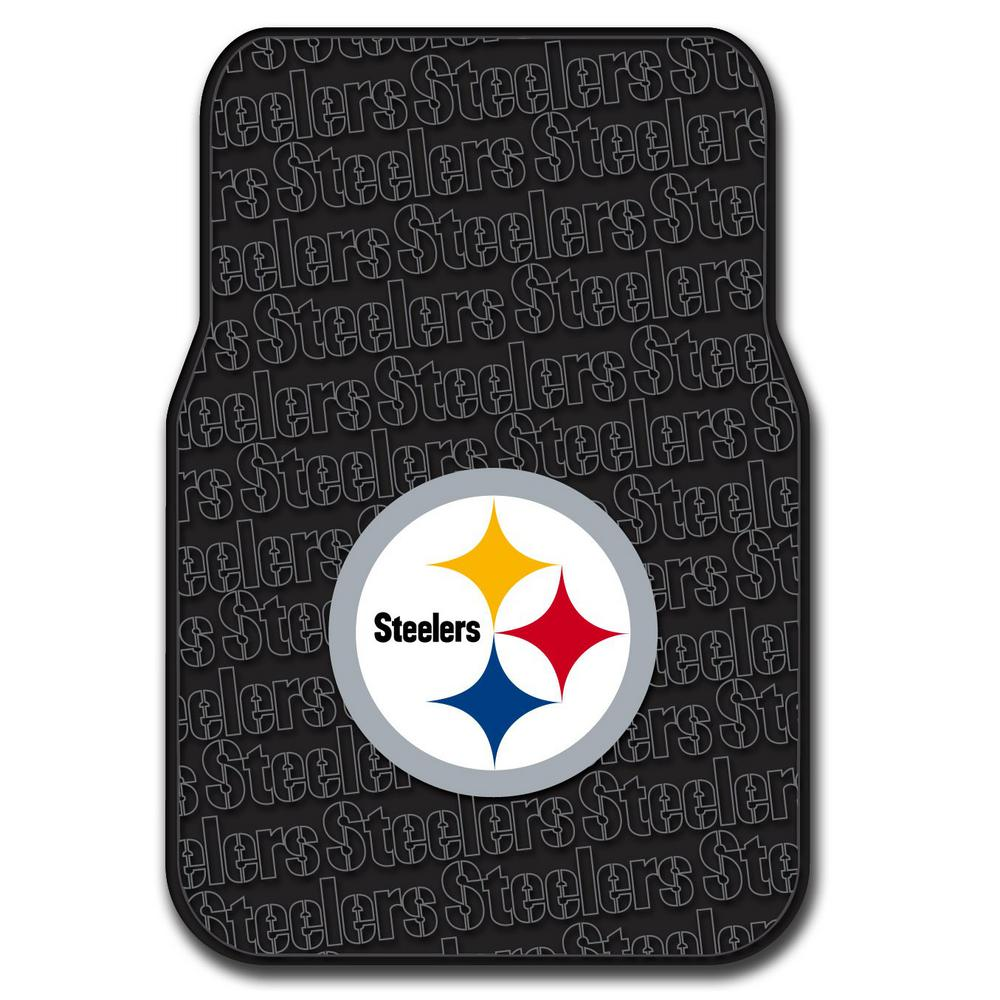 Pittsburgh Steelers Multi Color Rubber Car Front Floor Mats