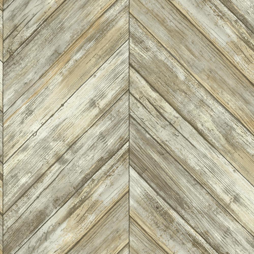 Pre Pasted Paper Chevron Herringbone Wallpaper