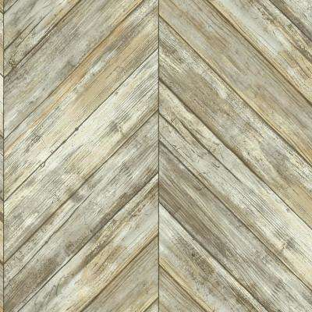 Herringbone Wood Boards Wallpaper