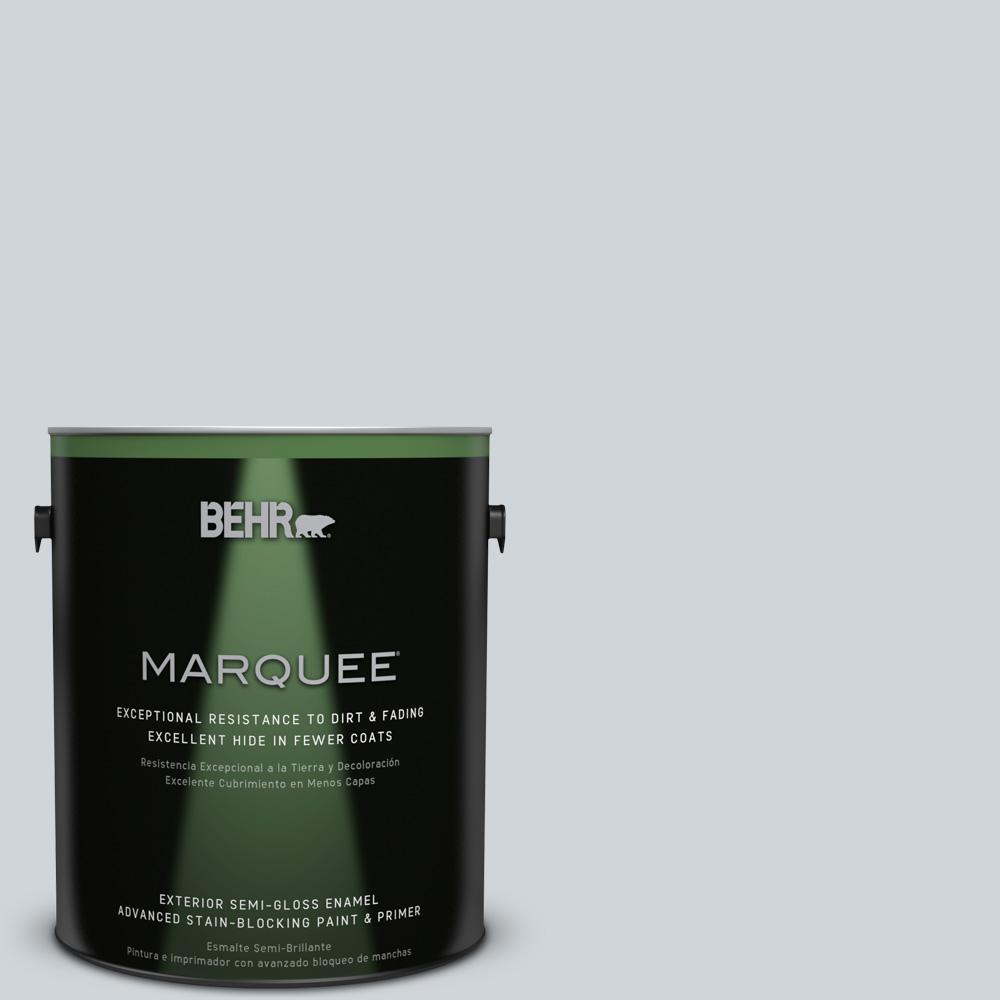 BEHR MARQUEE 1-gal. #750E-2 Twilight Gray Semi-Gloss Enamel Exterior Paint