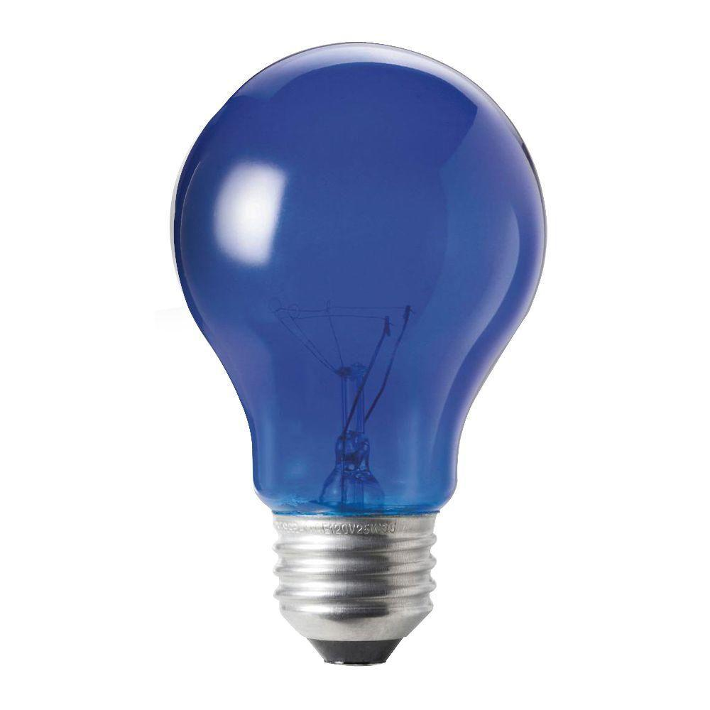 philips autism speaks 25 watt incandescent a19 transparent light bulb blue 6 pack 427567. Black Bedroom Furniture Sets. Home Design Ideas