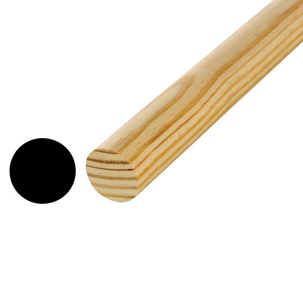 7/8 in. x 48 in. Hardwood Full Round Dowel