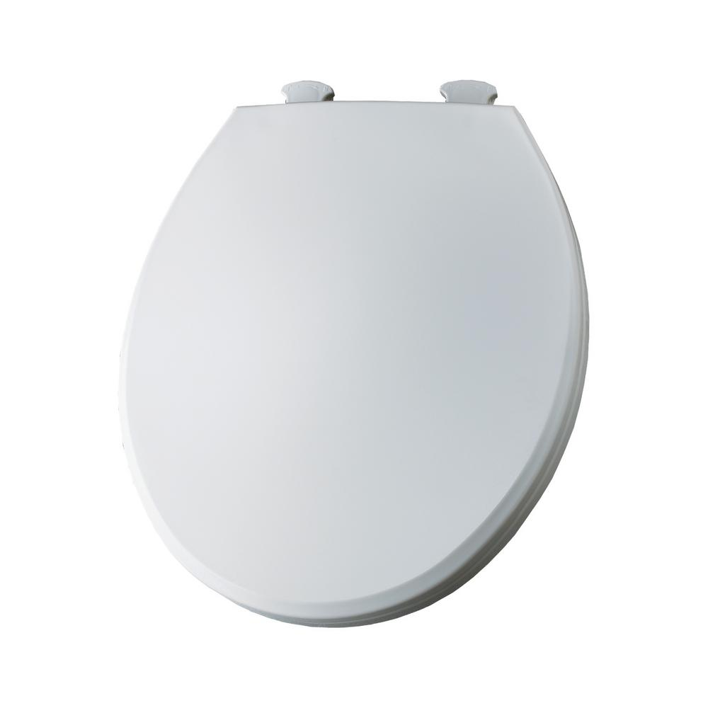 Superb Bemis Round Closed Front Toilet Seat In Crane White Beatyapartments Chair Design Images Beatyapartmentscom