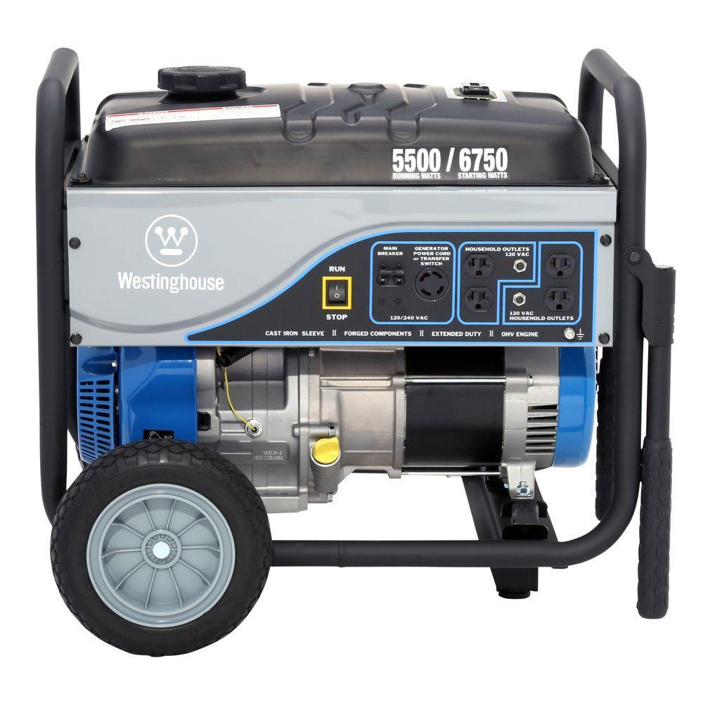 Westinghouse 5,500/6,750-Watt Gasoline Powered Powered Portable Generator
